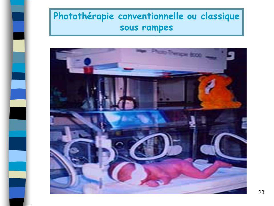 23 Photothérapie conventionnelle ou classique sous rampes