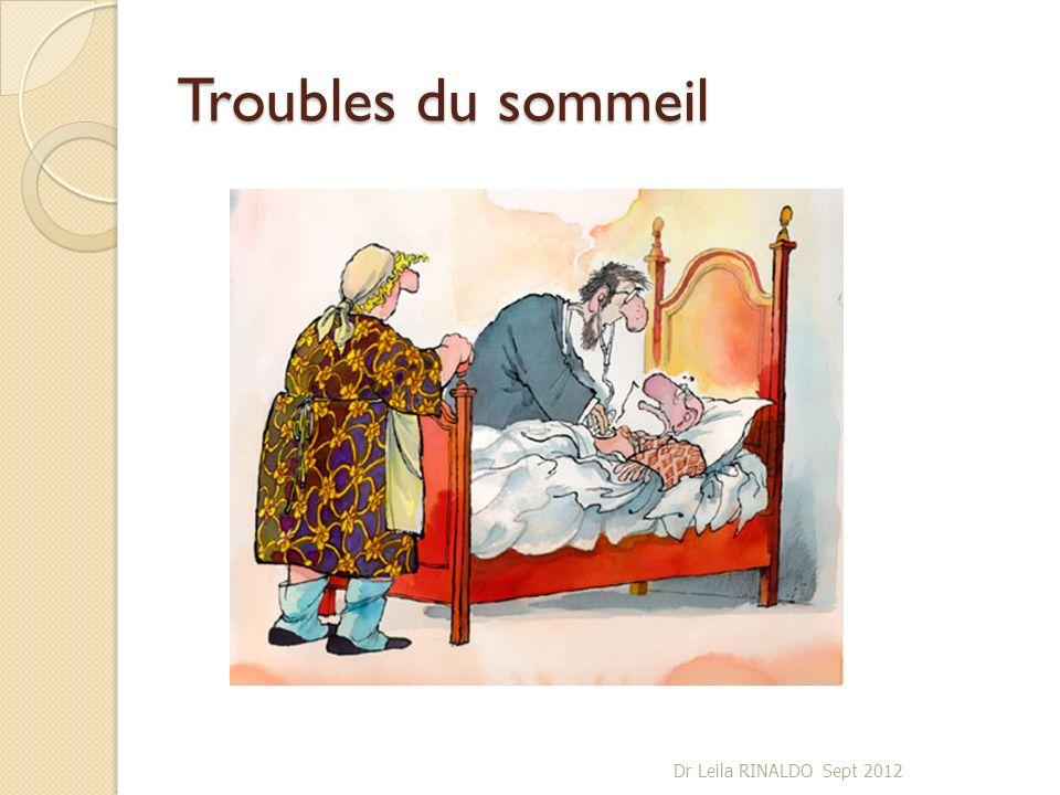 Troubles du sommeil Dr Leila RINALDO Sept 2012