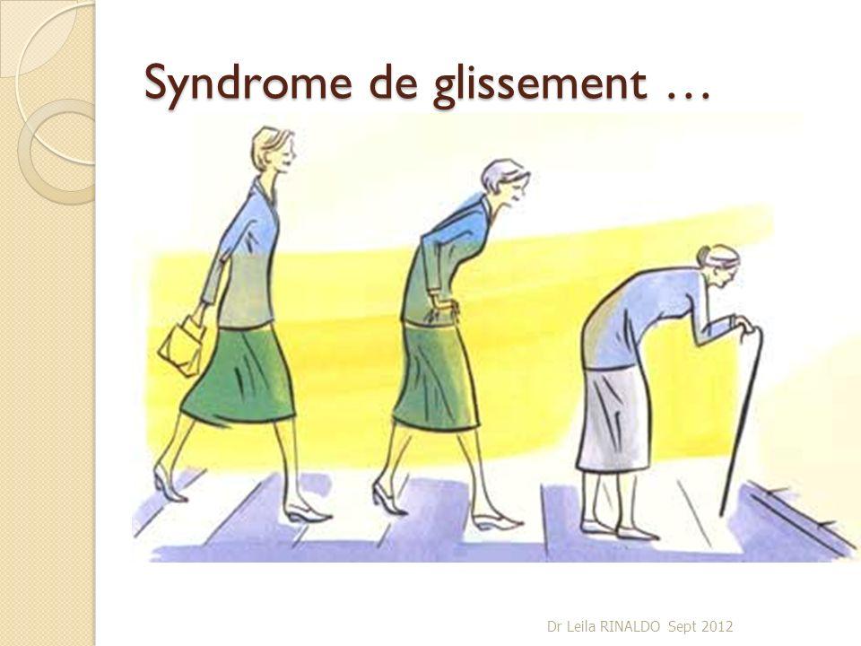 Syndrome de glissement … Dr Leila RINALDO Sept 2012