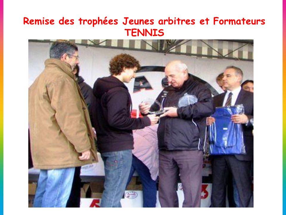 Remise des trophées Jeunes arbitres et Formateurs TENNIS