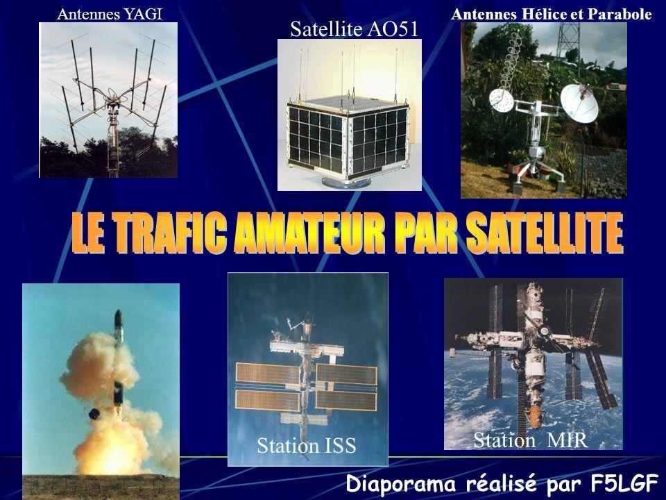 Différents aériens utilisés Si lon ne dispose pas de rotor de site, un angle de 15° donné aux antennes lors du montage suffira pour couvrir un grand nombre de configurations de passage de satellites.