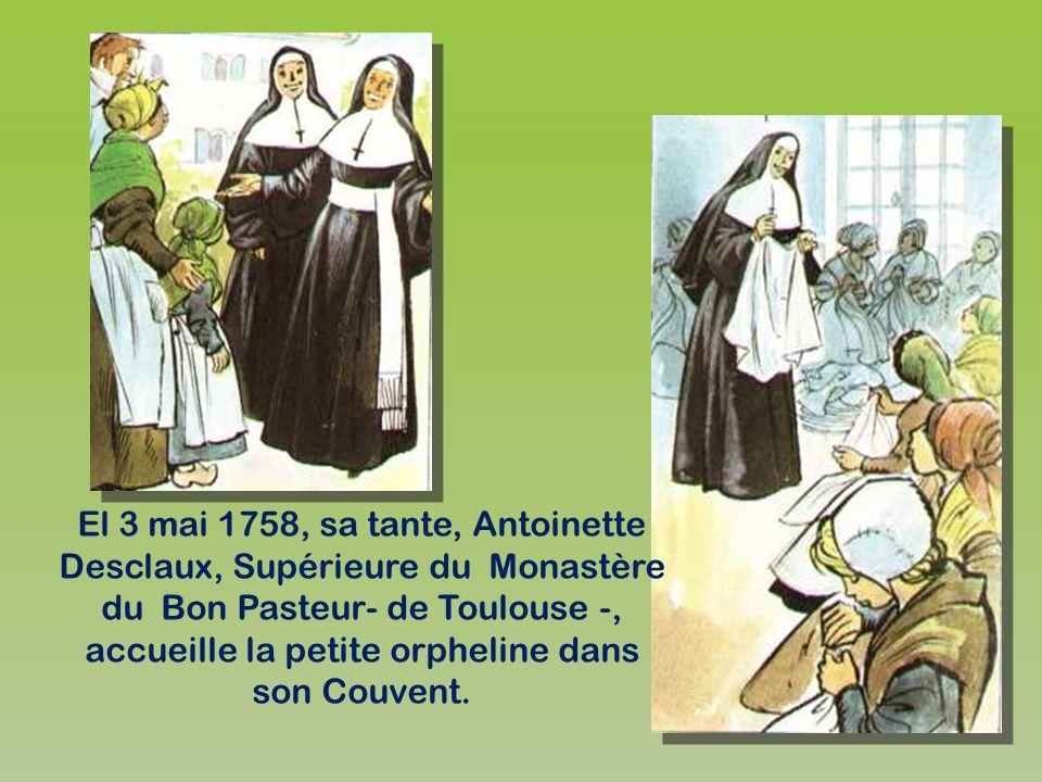 Ses parents: Pierre Paul Desclaux et Jeanne Matthieu. Le deux sont morts lorsque leur enfant Jeanne- Marie avait à peine quatre ans...