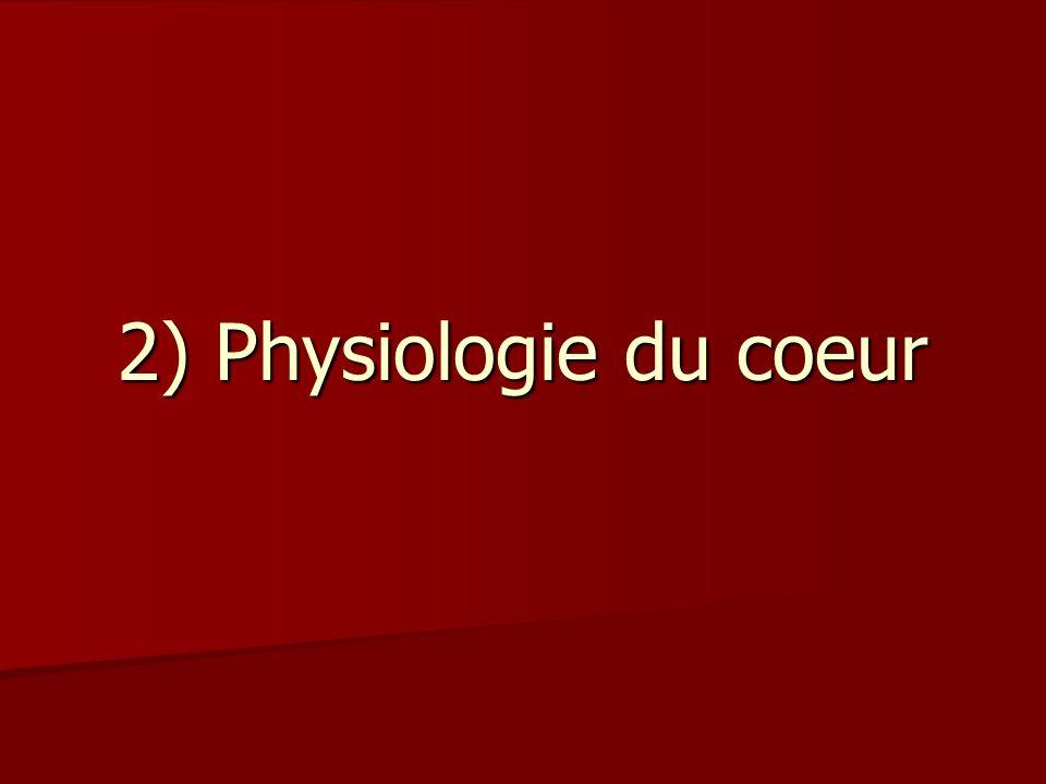 2) Physiologie du coeur