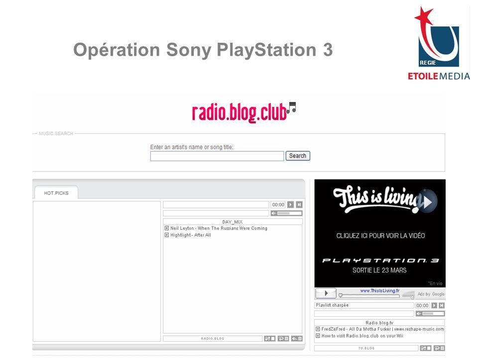 © Etoile Media Régie 2007 Opération Sony PlayStation 3