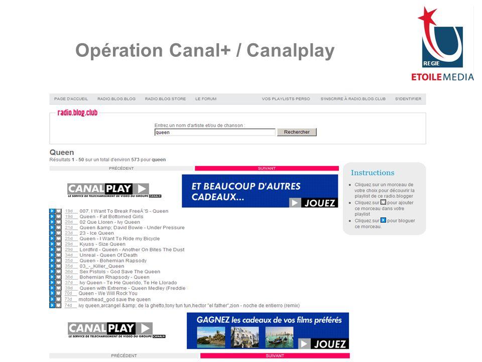© Etoile Media Régie 2007 Opération Canal+ / Canalplay