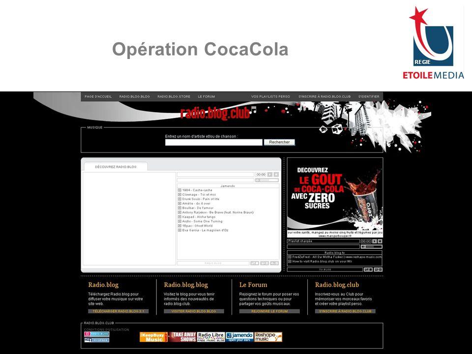 © Etoile Media Régie 2007 Opération CocaCola