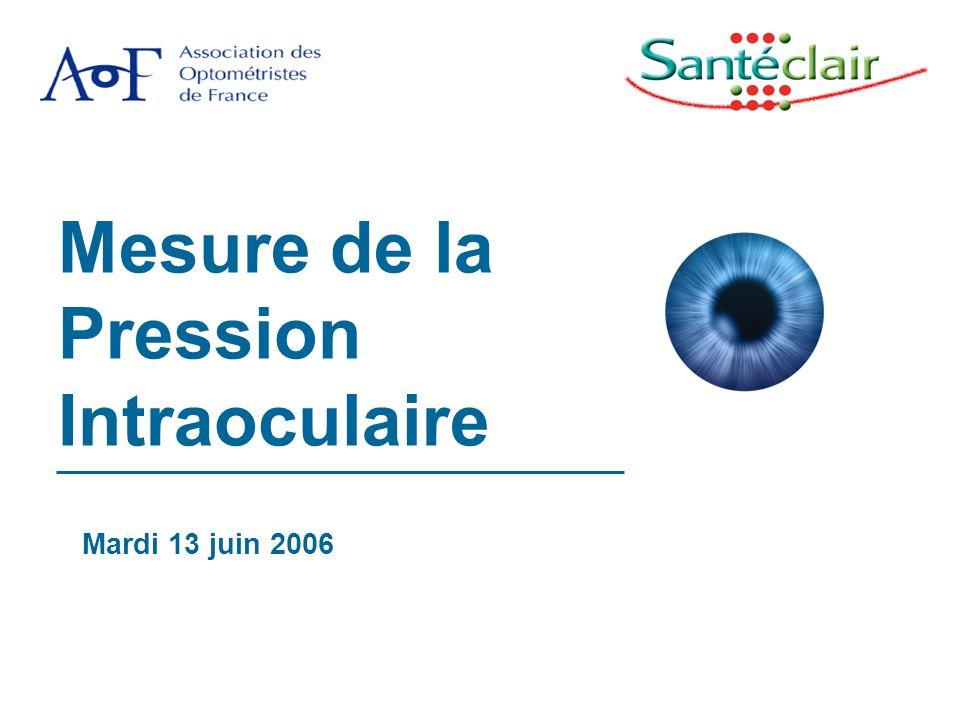 Mesure de la Pression Intraoculaire Mardi 13 juin 2006