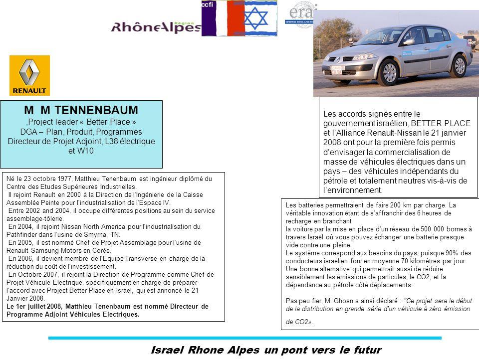 Israel Rhone Alpes un pont vers le futur Les accords signés entre le gouvernement israélien, BETTER PLACE et lAlliance Renault-Nissan le 21 janvier 20