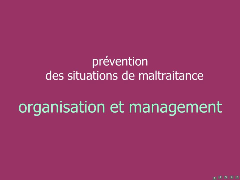 1 2345 prévention des situations de maltraitance organisation et management