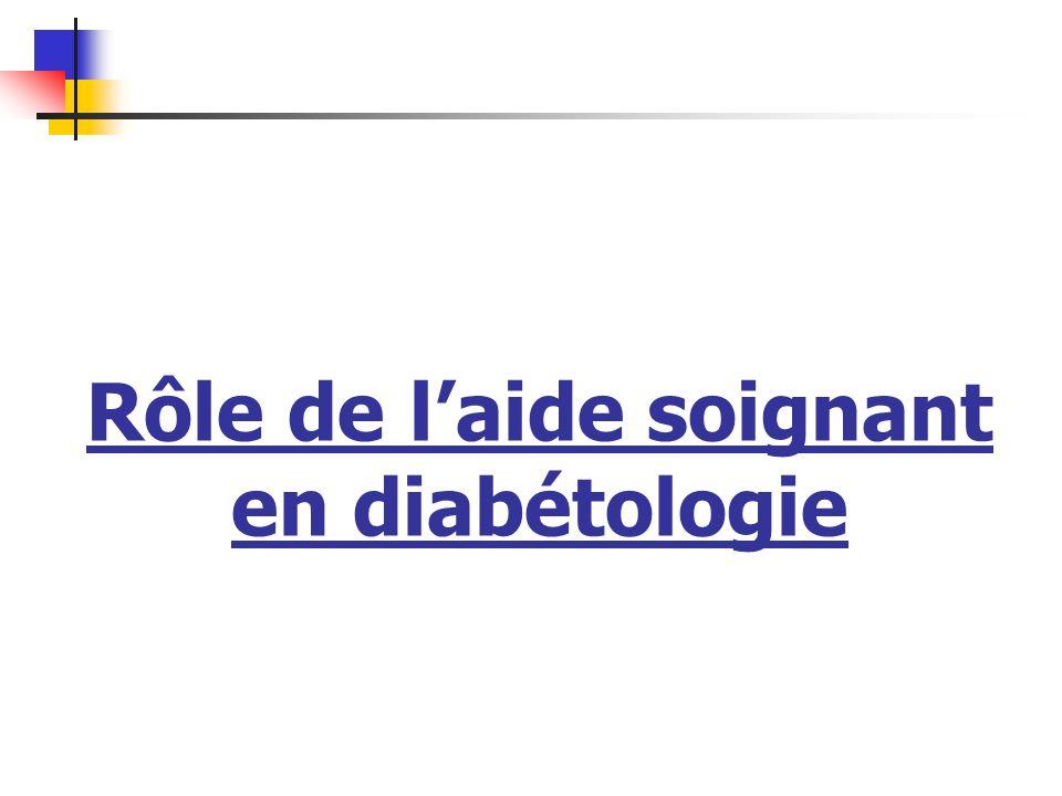 Rôle de laide soignant en diabétologie