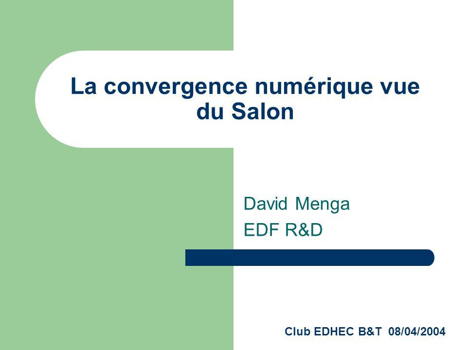 La convergence EGP-Informatique Cest une convergence technologique Un objet électronique convergent possède : - Un OS - Du disque dur - Des capacités réseau Exemple : le magnétoscope numérique TIVO