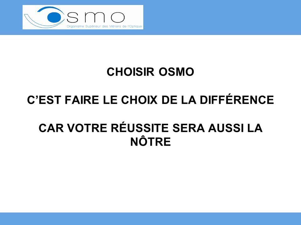 CHOISIR OSMO CEST FAIRE LE CHOIX DE LA DIFFÉRENCE CAR VOTRE RÉUSSITE SERA AUSSI LA NÔTRE