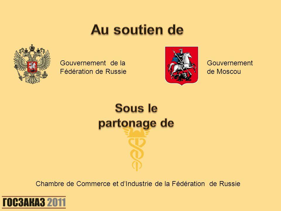 Gouvernement de la Fédération de Russie Gouvernement de Moscou Chambre de Commerce et dIndustrie de la Fédération de Russie