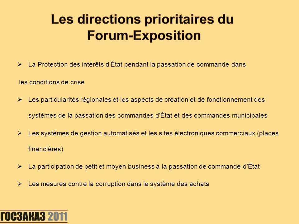 La Protection des intérêts d'État pendant la passation de commande dans les conditions de crise Les particularités régionales et les aspects de créati
