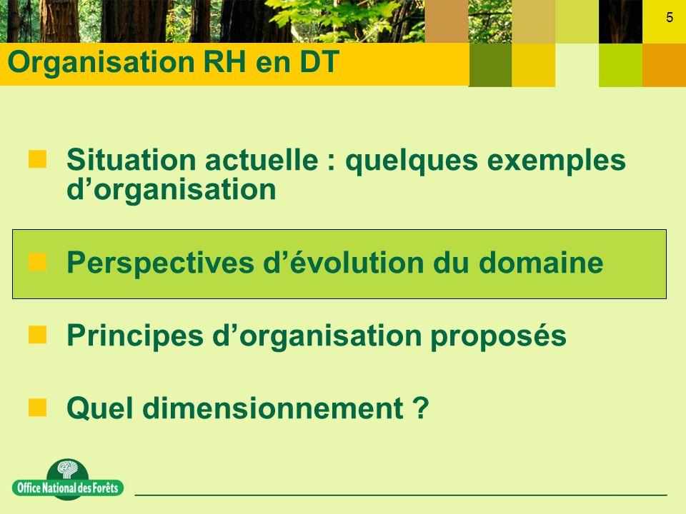 5 nSituation actuelle : quelques exemples dorganisation nPerspectives dévolution du domaine nPrincipes dorganisation proposés nQuel dimensionnement ?