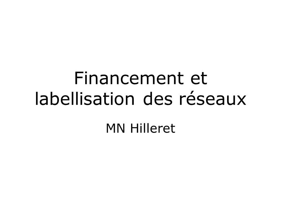 Financement et labellisation des réseaux MN Hilleret