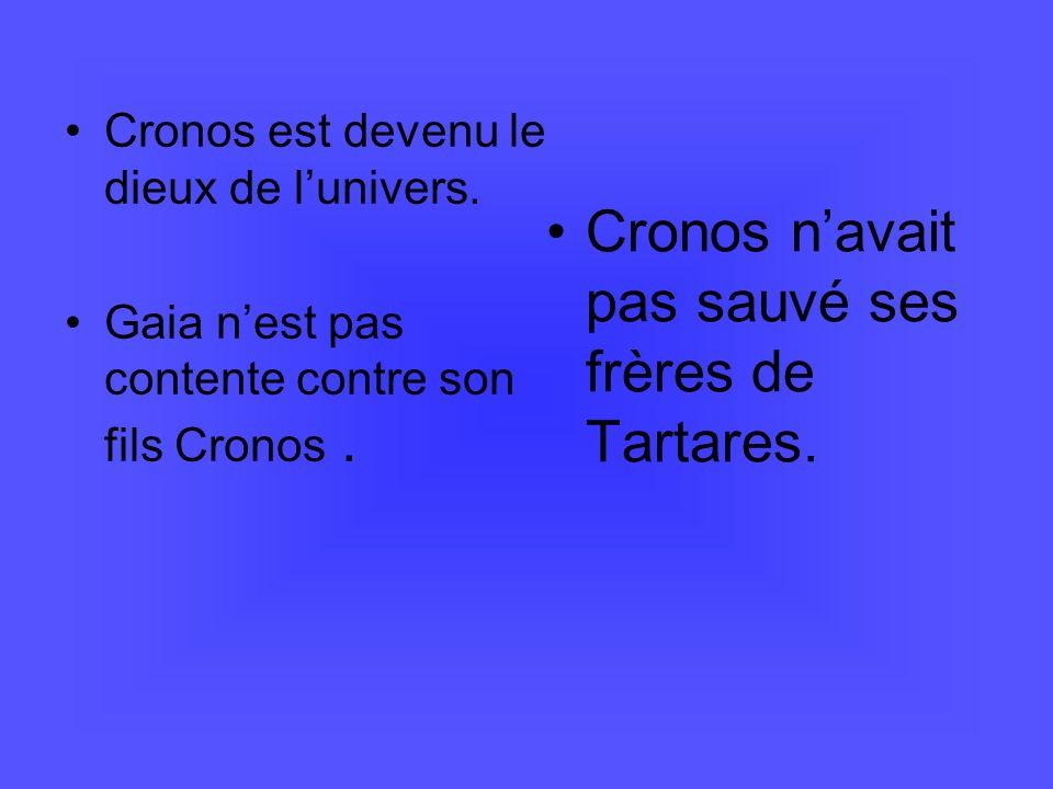 La naissance de Zeus Cronos, à son tour, devient inquiet.