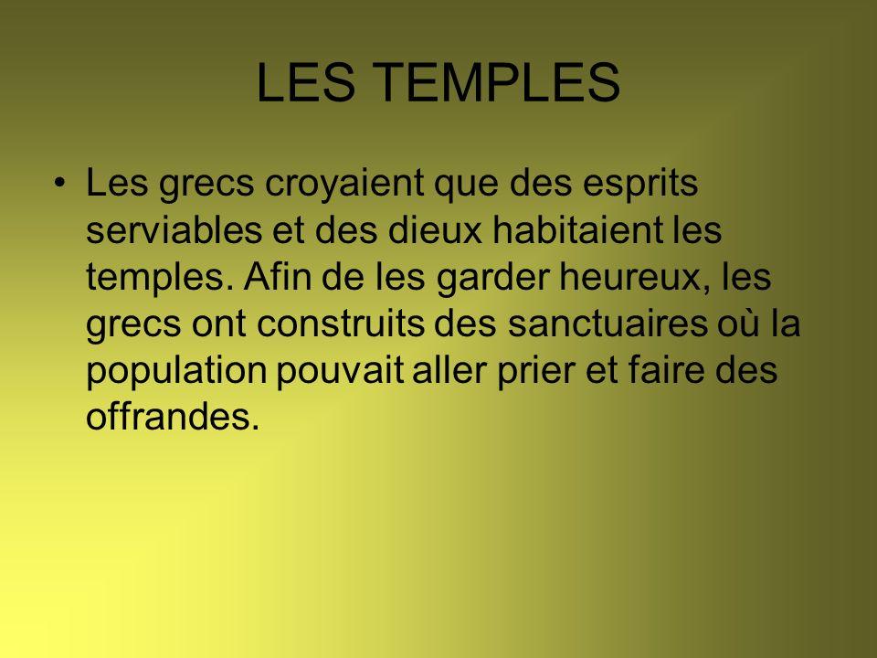 Les temples étaient très sombres et peu décorés à lintérieur.