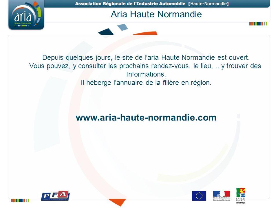 Aria Haute Normandie Depuis quelques jours, le site de laria Haute Normandie est ouvert.