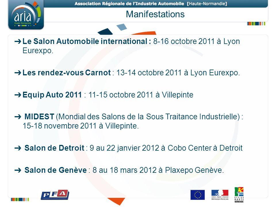 Manifestations Le Salon Automobile international : 8-16 octobre 2011 à Lyon Eurexpo.