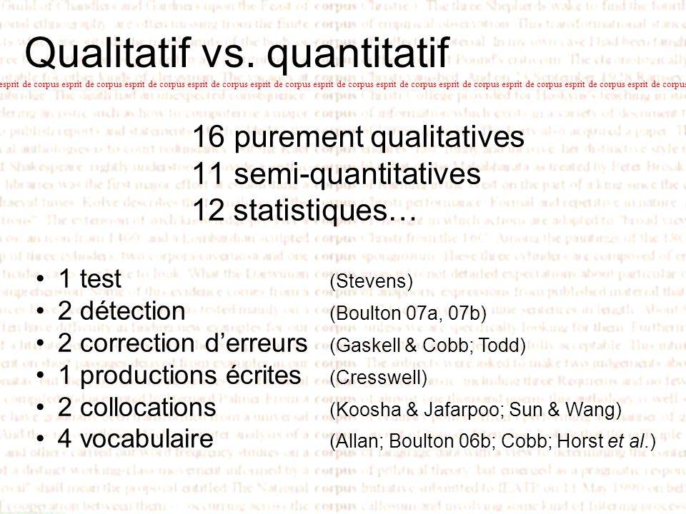 Qualitatif vs. quantitatif esprit de corpus esprit de corpus esprit de corpus esprit de corpus esprit de corpus esprit de corpus esprit de corpus espr