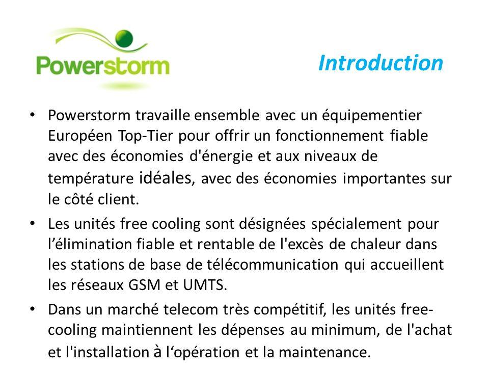 Powerstorm travaille ensemble avec un équipementier Européen Top-Tier pour offrir un fonctionnement fiable avec des économies d'énergie et aux niveaux