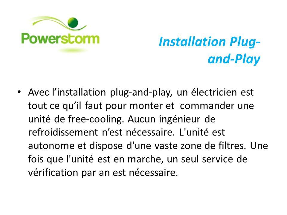 Avec linstallation plug-and-play, un électricien est tout ce quil faut pour monter et commander une unité de free-cooling. Aucun ingénieur de refroidi