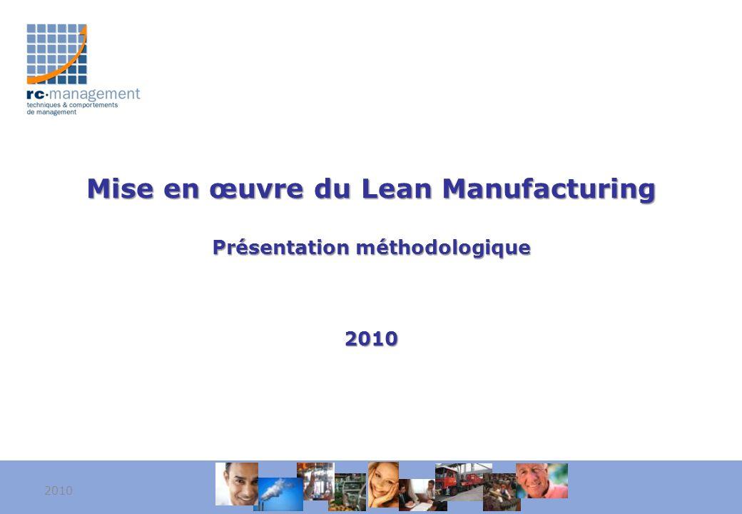Mise en œuvre du Lean Manufacturing Présentation méthodologique 2010 20101