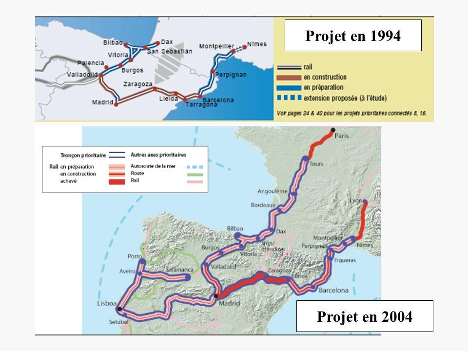 Projet en 1994 Projet en 2004
