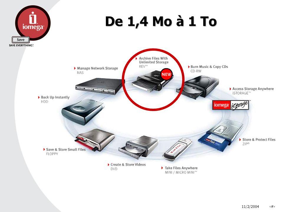 11/2/2004# De 1,4 Mo à 1 To