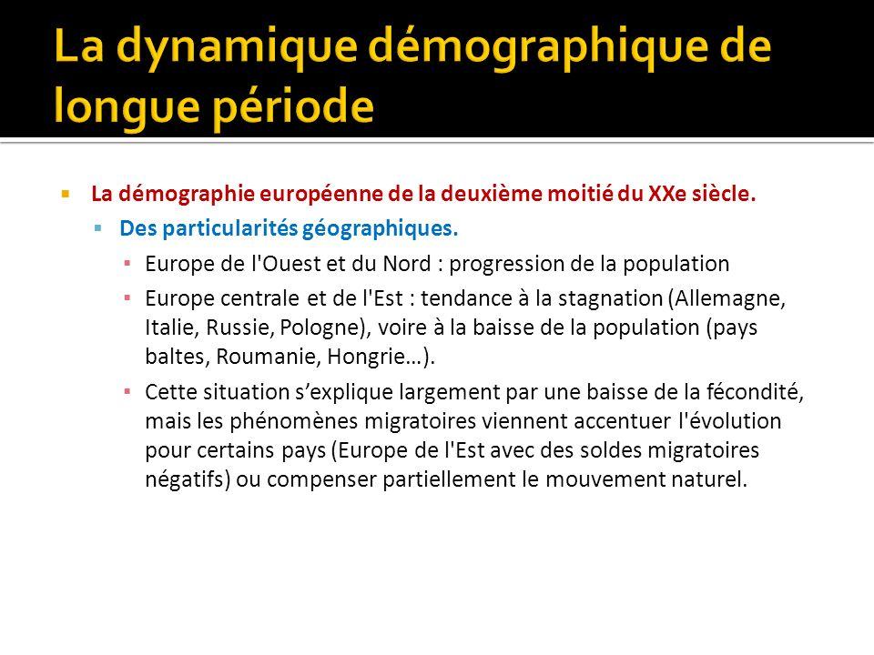 La démographie européenne de la deuxième moitié du XXe siècle. Des particularités géographiques. Europe de l'Ouest et du Nord : progression de la popu