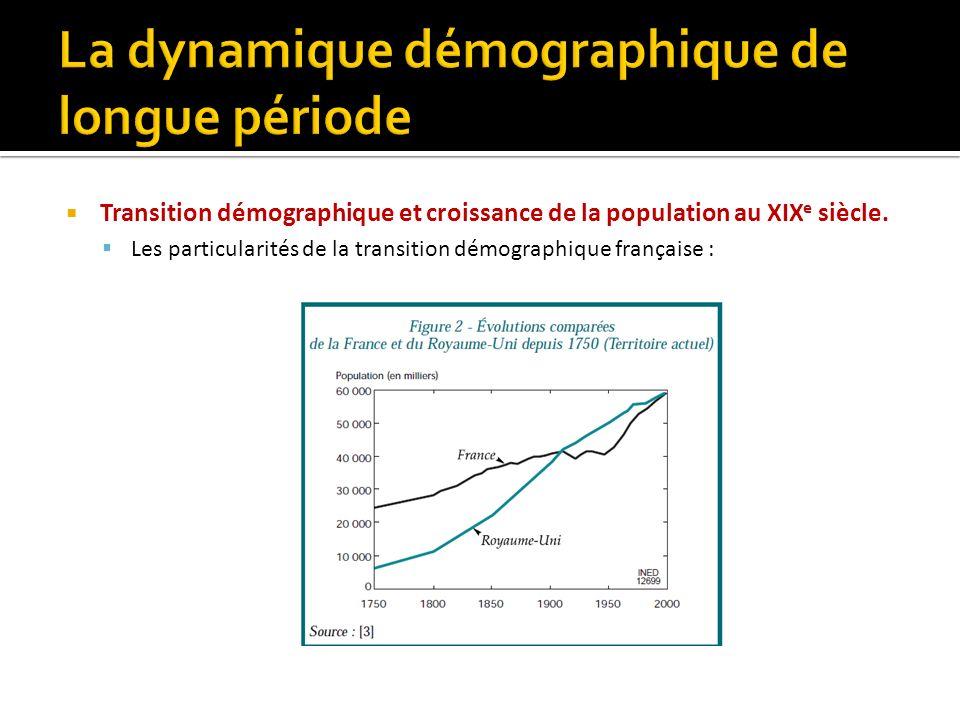 Transition démographique et croissance de la population au XIX e siècle.