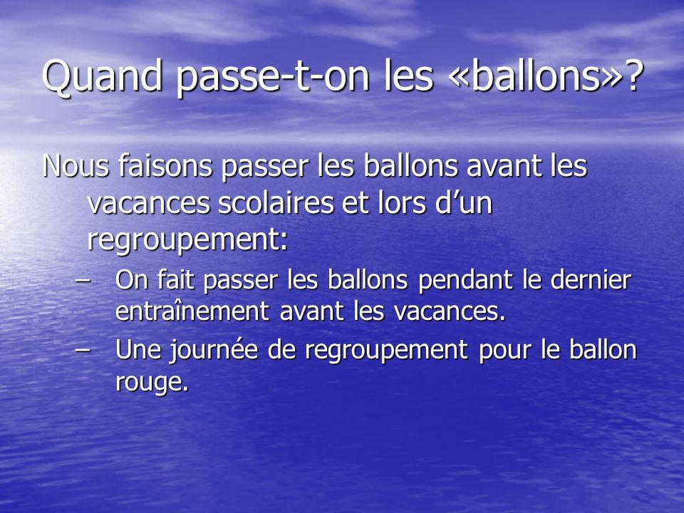 Le ballon blanc Je suis capable, sans me déplacer, de faire 10 jonglages hauts (> à 50cm) en passes et/ou en manchettes.