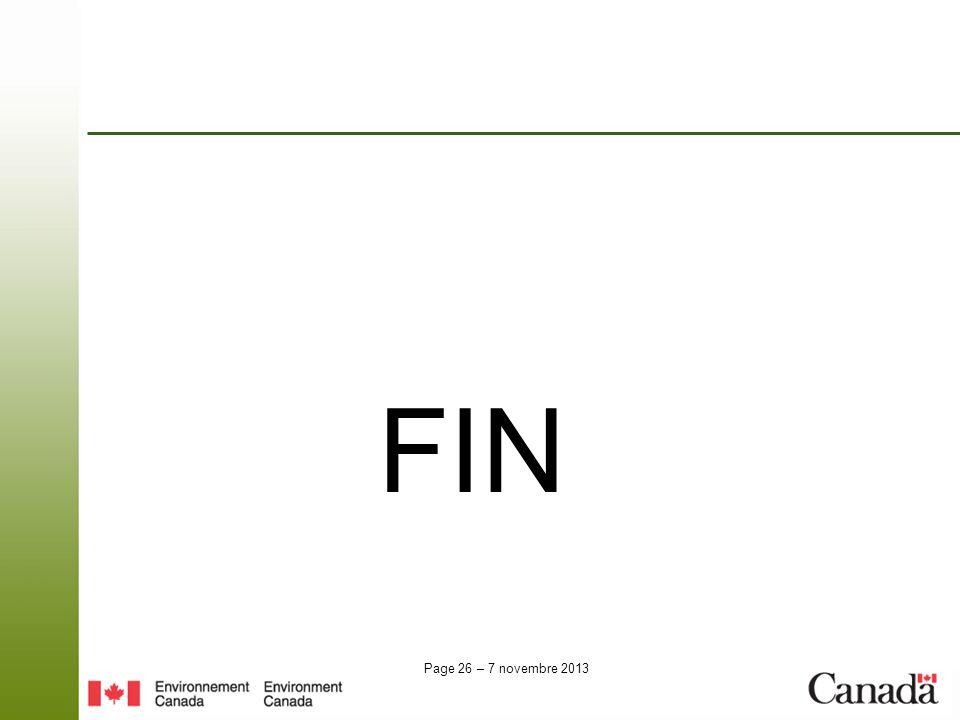 Page 26 – 7 novembre 2013 FIN