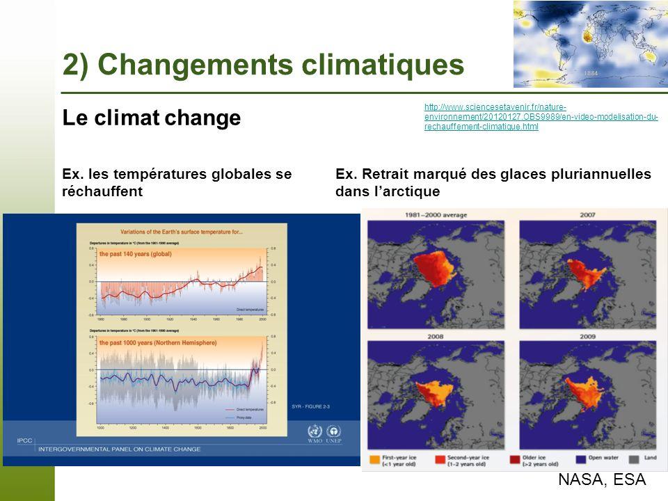 Page 6 – 7 novembre 2013 Ex. Retrait marqué des glaces pluriannuelles dans larctique NASA, ESA Le climat change http://www.sciencesetavenir.fr/nature-