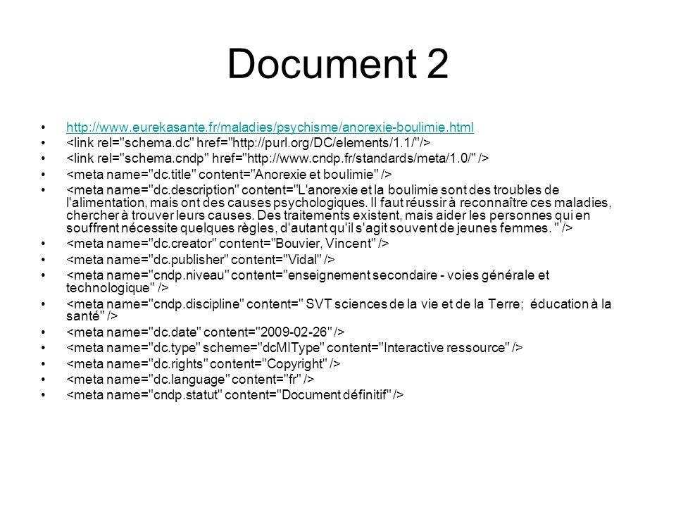 Document 2 http://www.eurekasante.fr/maladies/psychisme/anorexie-boulimie.html