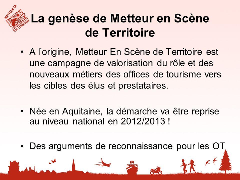 La genèse de Metteur en Scène de Territoire A lorigine, Metteur En Scène de Territoire est une campagne de valorisation du rôle et des nouveaux métier