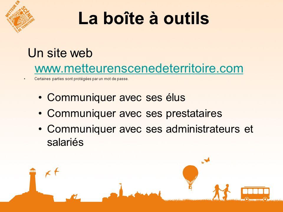 Un site web www.metteurenscenedeterritoire.com www.metteurenscenedeterritoire.com Certaines parties sont protégées par un mot de passe. Communiquer av
