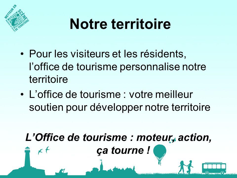 Notre territoire Pour les visiteurs et les résidents, loffice de tourisme personnalise notre territoire Loffice de tourisme : votre meilleur soutien p