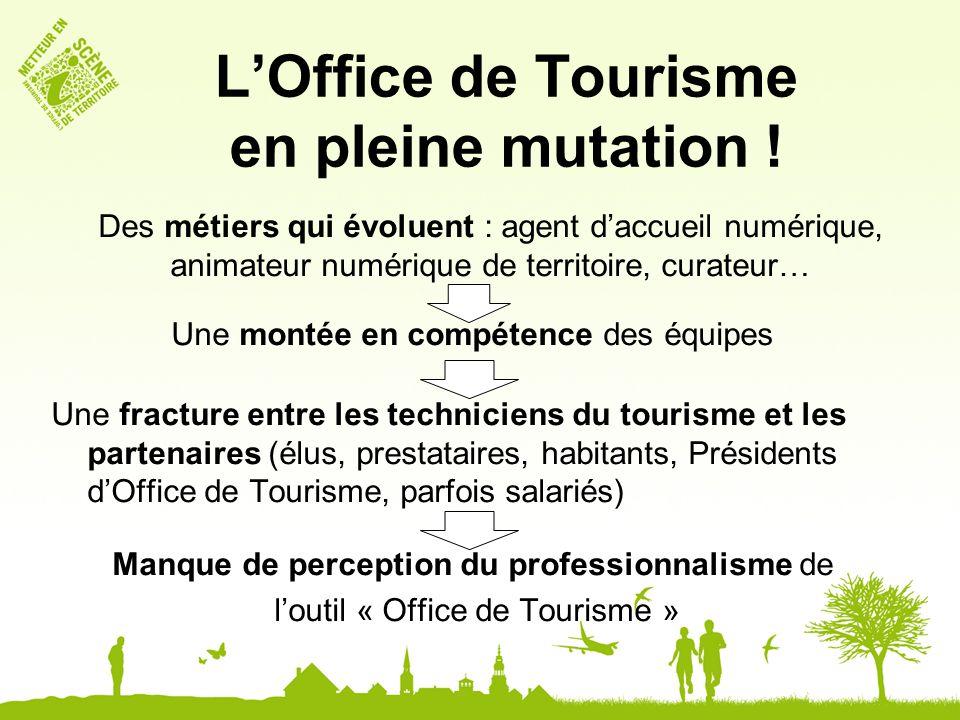 LOffice de Tourisme en pleine mutation ! Des métiers qui évoluent : agent daccueil numérique, animateur numérique de territoire, curateur… Une montée