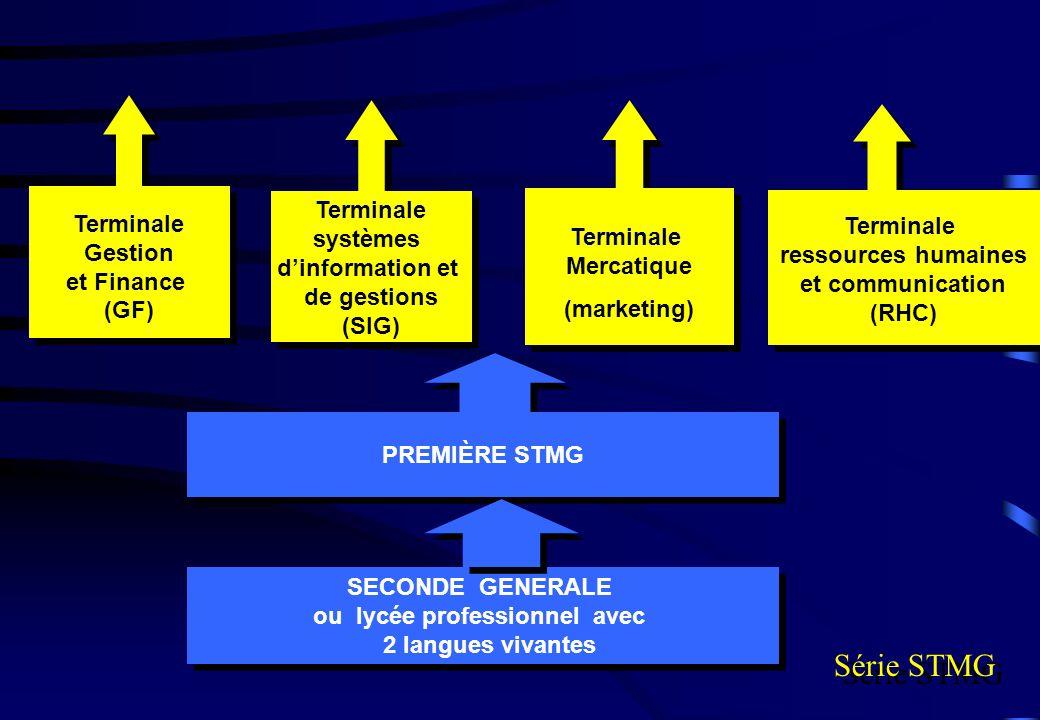 PREMIÈRE STMG Série STMG Terminale systèmes dinformation et de gestions (SIG) Terminale systèmes dinformation et de gestions (SIG) Terminale Gestion e