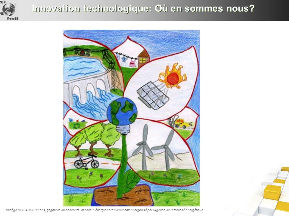 Innovation technologique: Où en sommes nous? Nadège BERIAULT, 11 ans, gagnante du concours national L'énergie et l'environnement organisé par lAgence