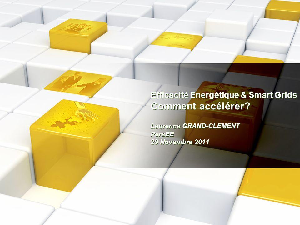 Efficacité Energétique & Smart Grids Comment accélérer? Laurence GRAND-CLEMENT PersEE 29 Novembre 2011