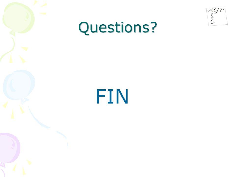 Questions? FIN