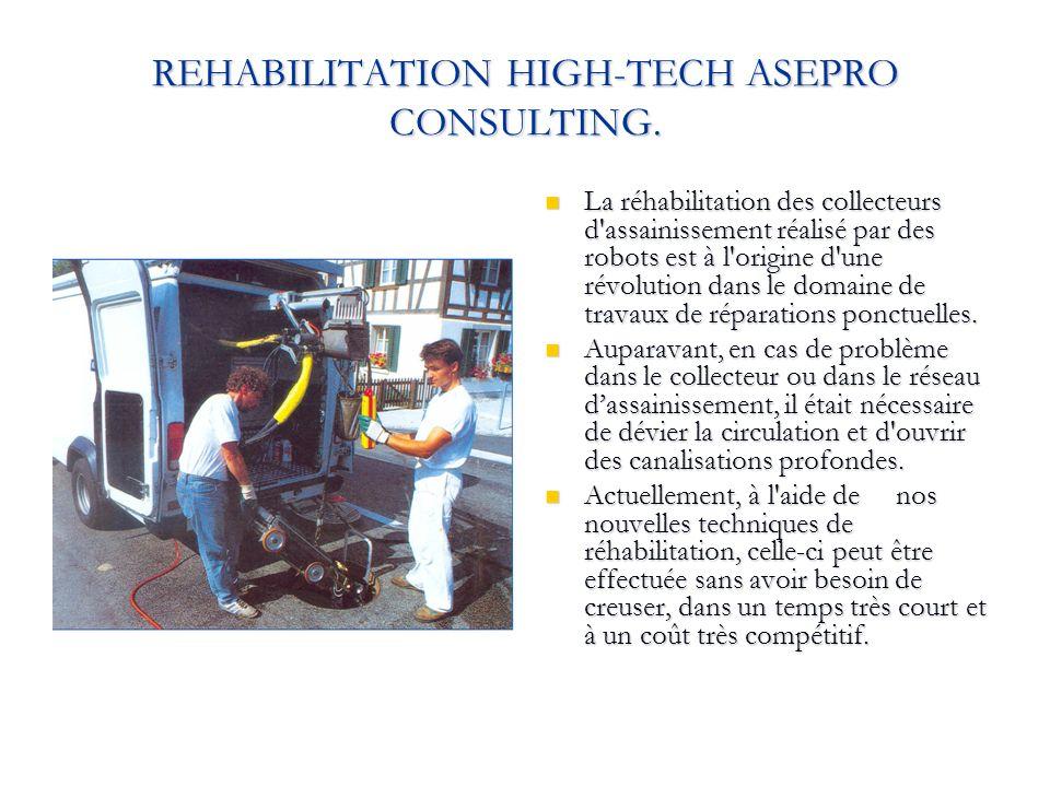 REHABILITATION HIGH-TECH ASEPRO CONSULTING. La réhabilitation des collecteurs d'assainissement réalisé par des robots est à l'origine d'une révolution