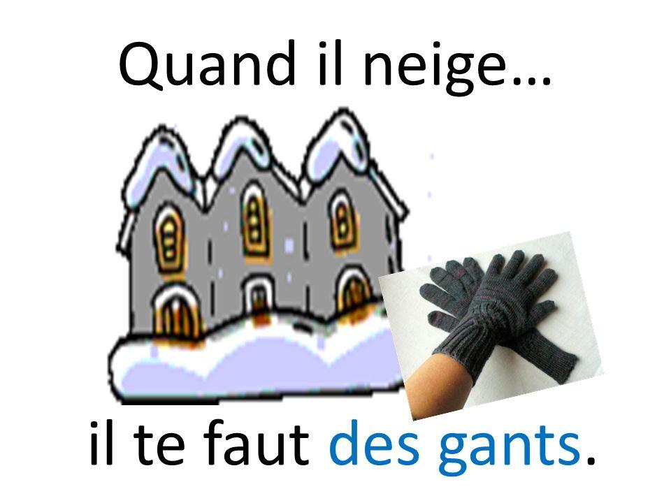 Quand il neige… il te faut des gants.