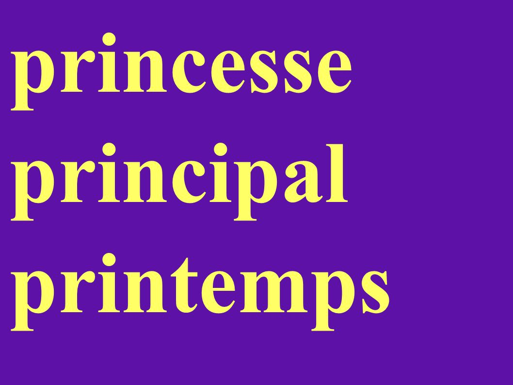 princesse principal printemps