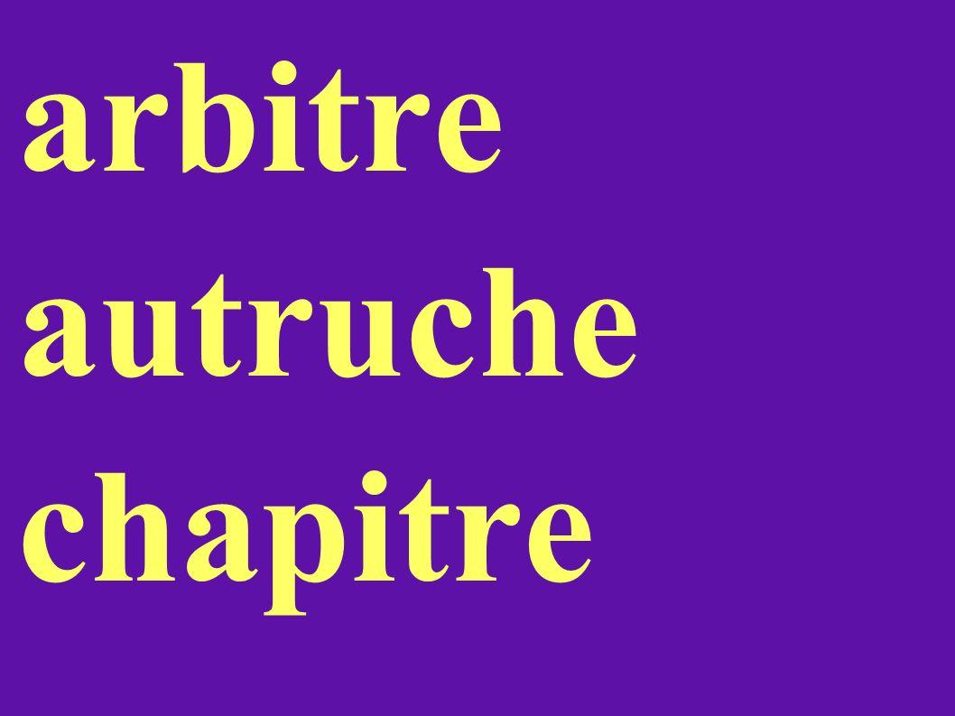 arbitre autruche chapitre