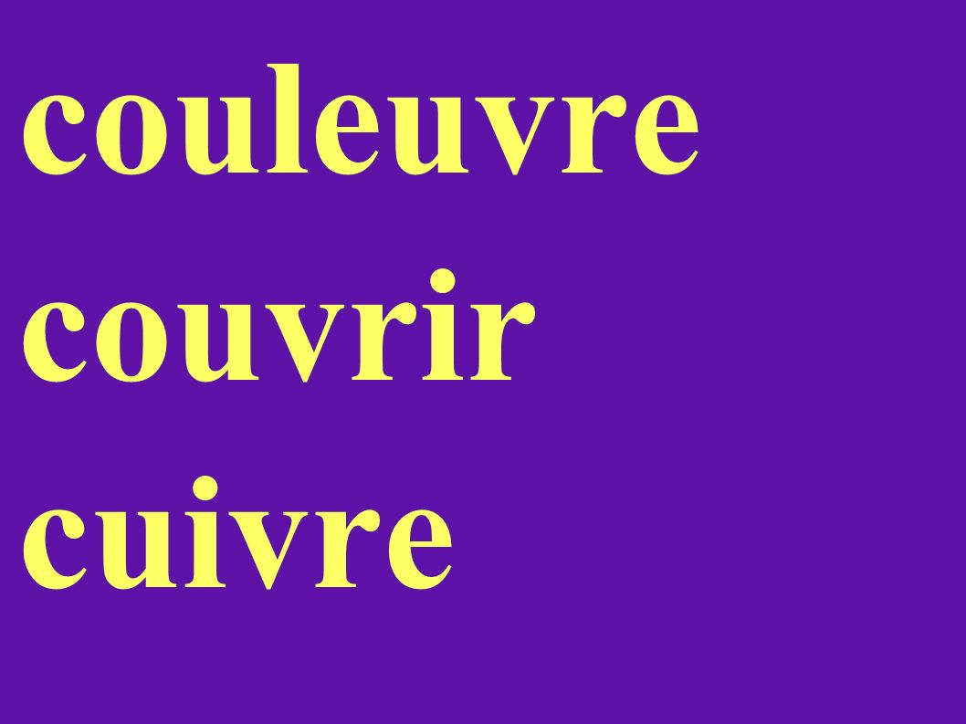 couleuvre couvrir cuivre