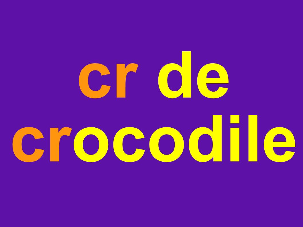 cr de crocodile